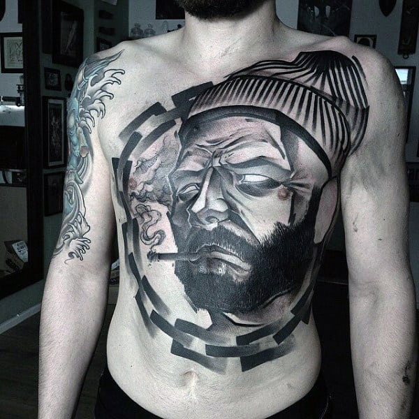Top 100 Best Stomach Tattoos For Men Masculine Ideas