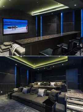 80 Home Theater Design Ideas For Men   Movie Room Retreats Luxurious Home Theater Design With Plush Carpet