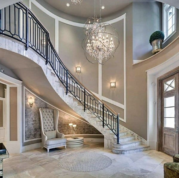 Top 70 Best Stair Railing Ideas Indoor Staircase Designs | Outdoor Iron Staircase Designs | Gallery | Outdoor Balcony | Exterior | Curved Staircase Carpet | Wooden Staircase