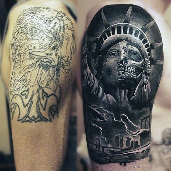 Minimalist Shoulder Male Tattoos