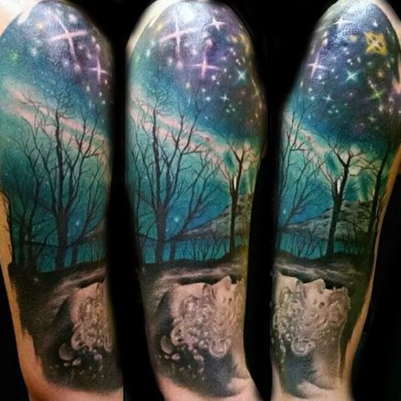 Northern Lights Candle Lantern