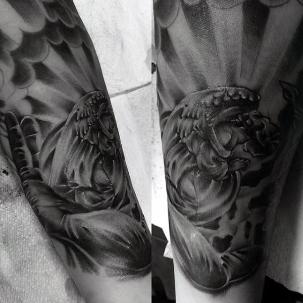 Angels Forearms Tattoo Mens