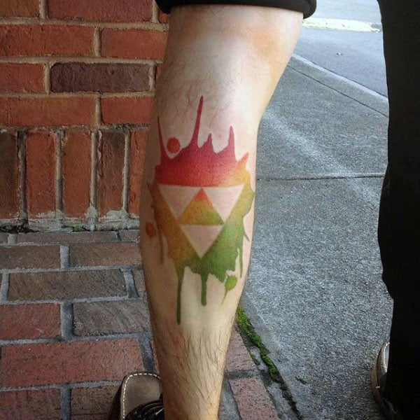 Tri Force 8 Bit Tattoos
