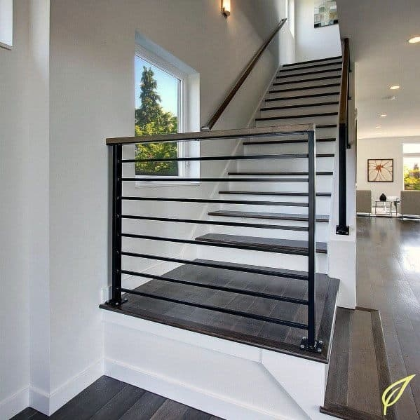 Top 70 Best Stair Railing Ideas Indoor Staircase Designs | Interior Stairs And Railings | Traditional | Living Room | Crystal | Rectangular Tube | Inside