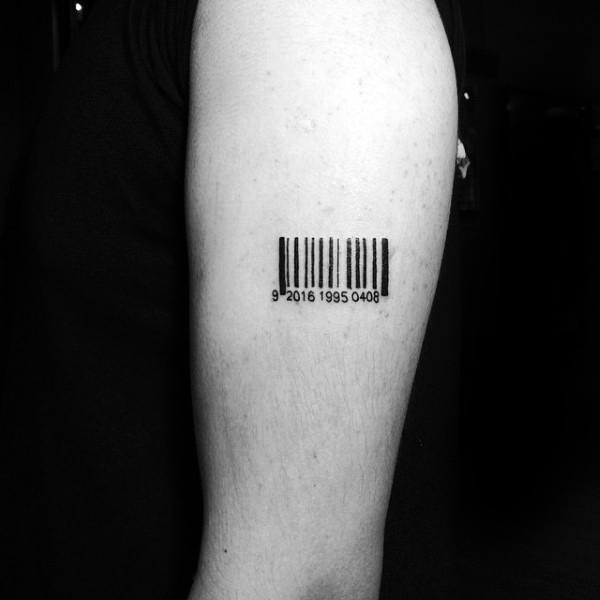 Banner Word Arm Tattoo