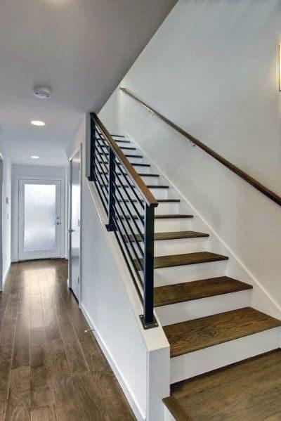 Top 70 Best Basement Stairs Ideas Staircase Designs   Best Wood For Basement Stairs   Stair Risers   Stair Treads   Handrail   Modern Stair Railing   Basement Renovations