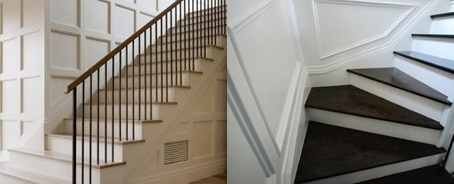Top 60 Best Stair Trim Ideas Staircase Molding Designs   Designs For Staircase Wall   Partition   Classy   Attractive   Luxury   Transitional