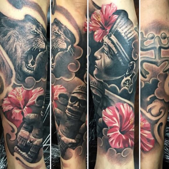 Puerto Rico Taino Tattoos Sleeves