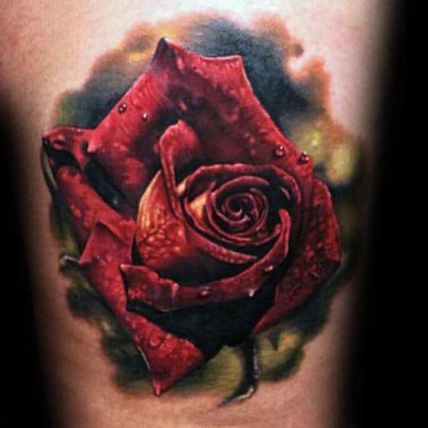 90 Realistic Rose Tattoo Designs For Men - Floral Ink Ideas