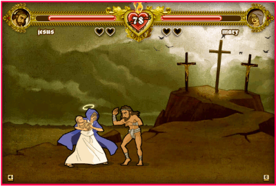 nicu s FOSS n stuff  Bible Fight   cool Flash game biblefight game