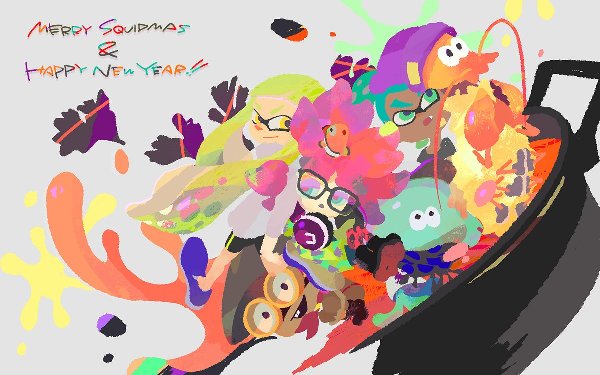 Nintendo shares special Splatoon illustration for Christmas and New     Nintendo shares special Splatoon illustration for Christmas and New Year s