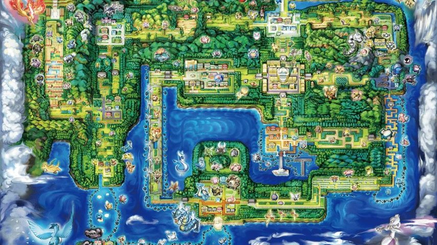 First Look At The Map Of Pokemon Let s GO Pikachu Eevee And More     First Look At The Map Of Pokemon Let s GO Pikachu Eevee And More Artwork    NintendoSoup