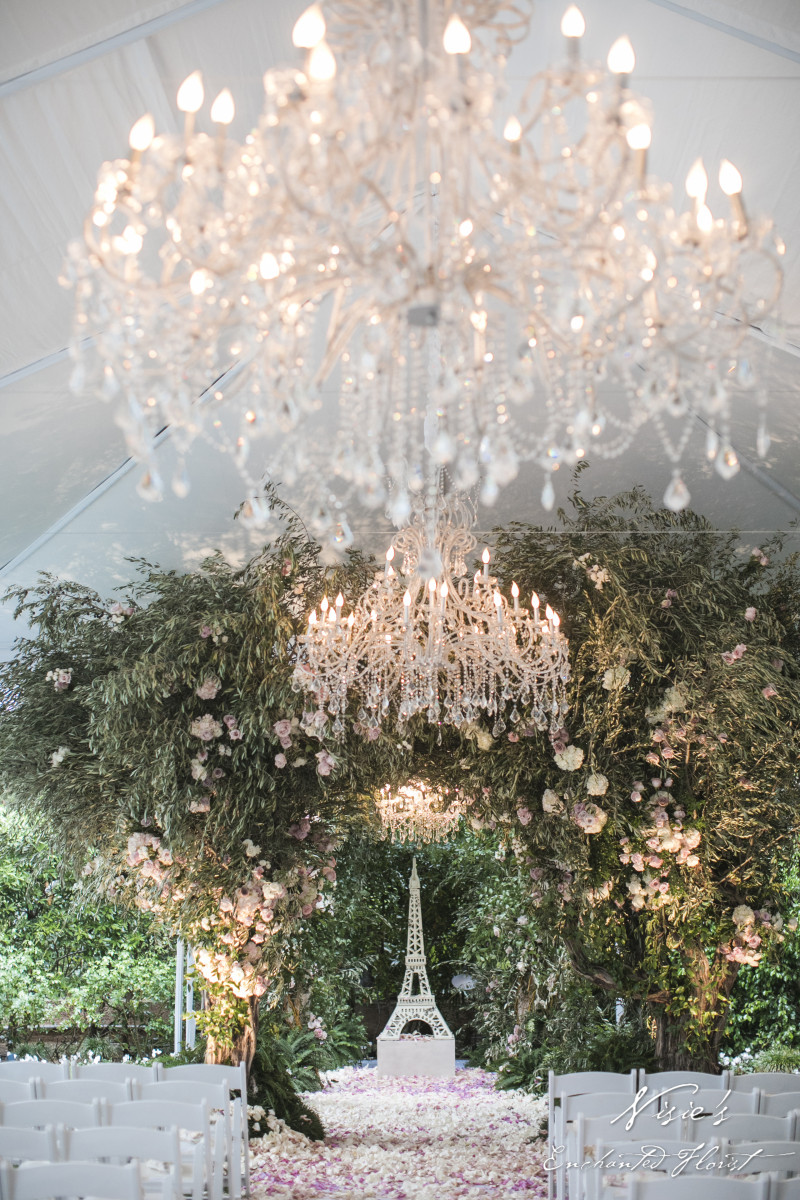 A Parisian Enchanted Forest Nisie S Enchanted Florist Wedding Florist In Orange County