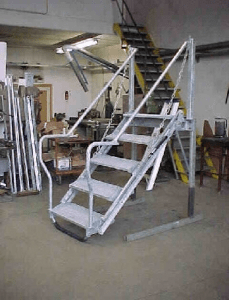 Folding Stairs Nmf Group   Folding Stairs With Handrails   Elderly   Hydraulic   Hand Rail   Aluminum   Interior