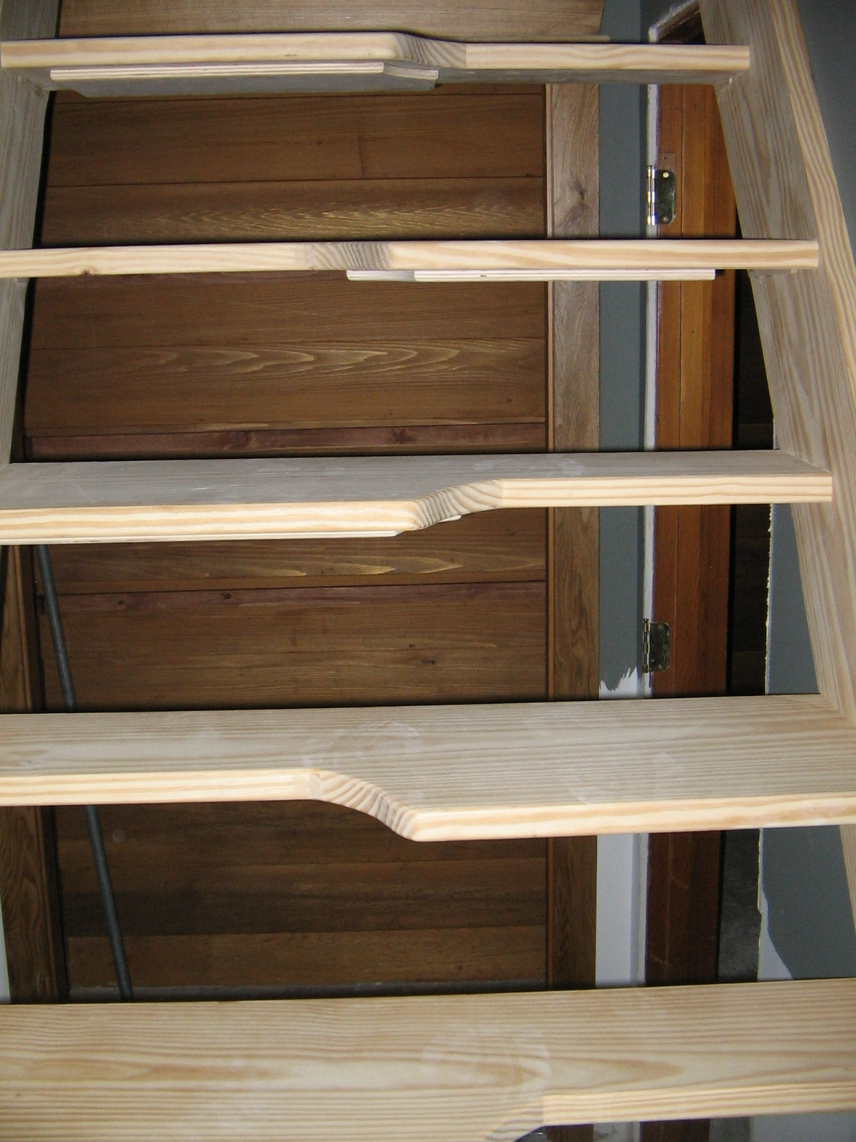 Gallery 7 Alternating Tread Stairs Nmwoodworking Com   Wood Alternating Tread Stair   Modern Staircase   Stair Case   Thomas Jefferson   Spiral Staircase   Tread Depth