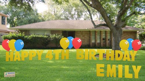 Happy 2 Noah Birthday Balloons