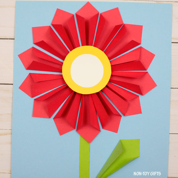 3D paper flower craft for Mother s Day   3D paper flower craft