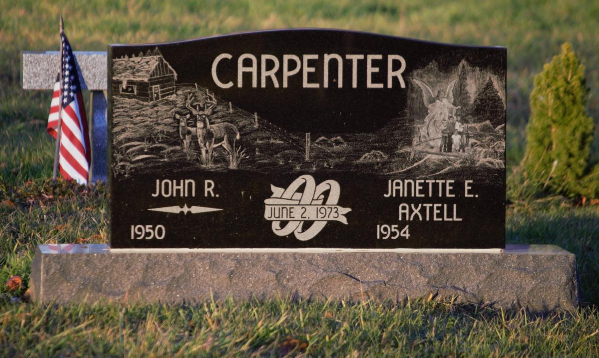 Black Headstones With Etching