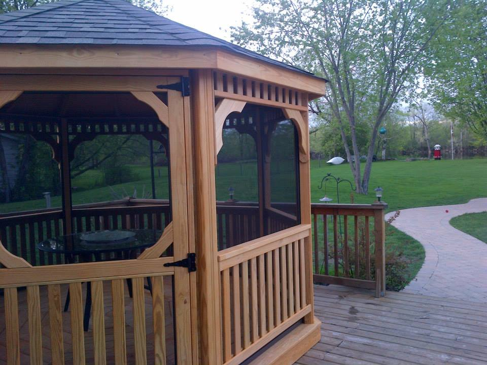 Wood Octagonal Gazebos 187 North Country Sheds