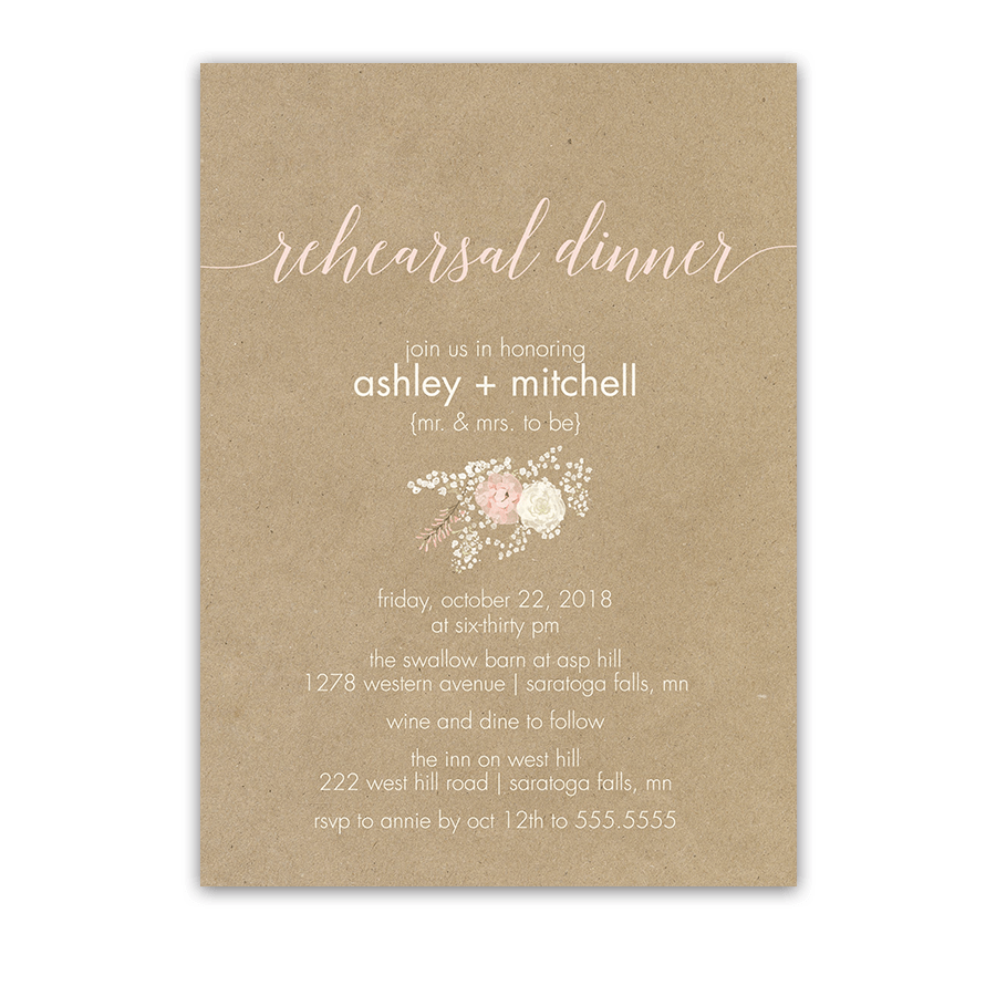 Affordable Wedding Reception Invitations