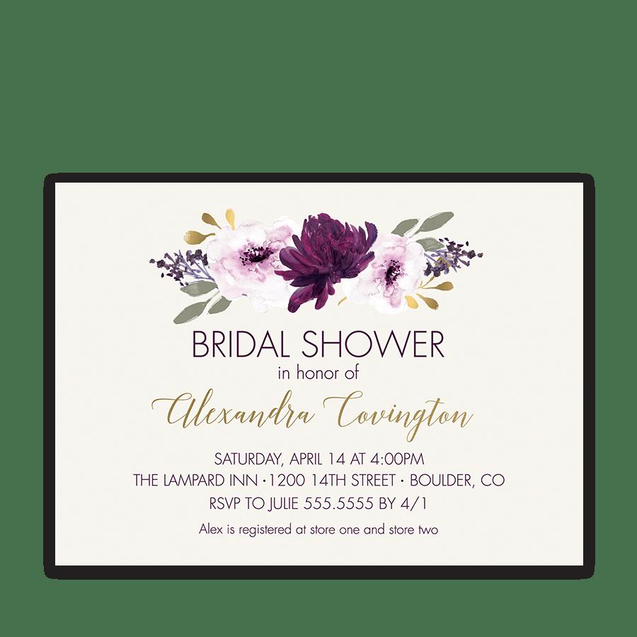 All White Bridal Shower Invitations