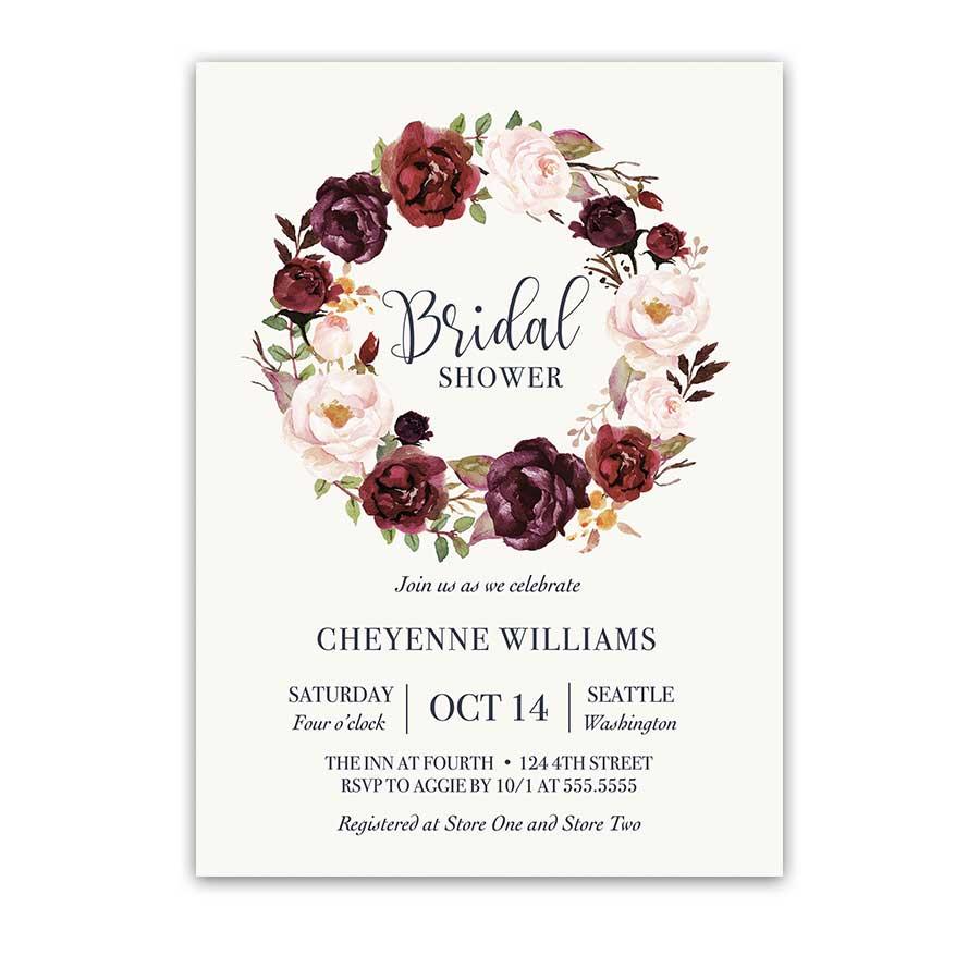 Program Bridal Shower Party