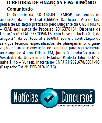 PM-SP Vunesp