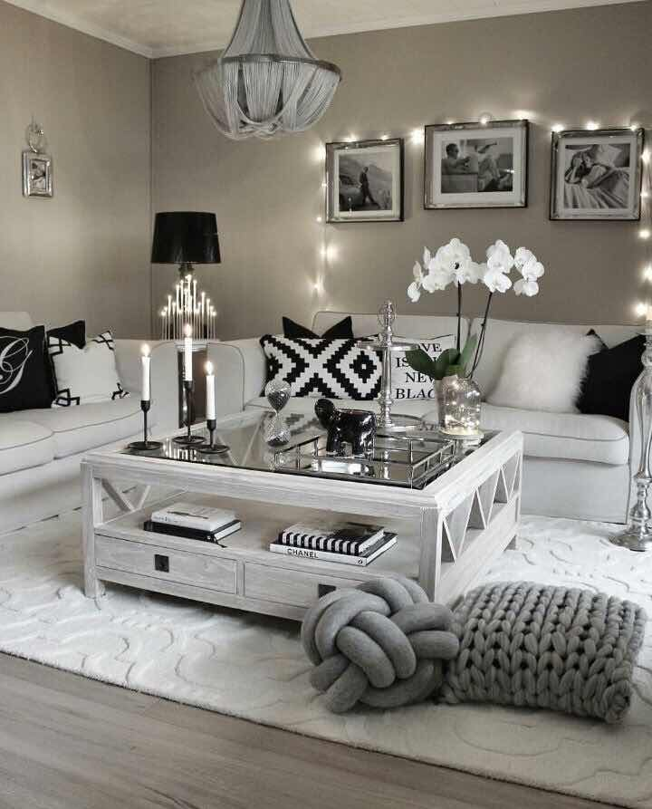 Grey And White Sofa