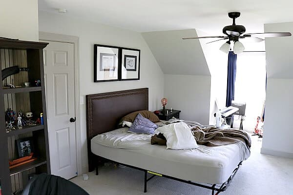 Industrial Ceiling Fan Bedroom