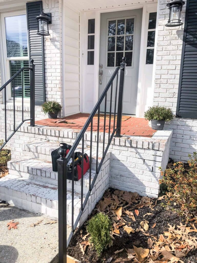 How To Repurpose Exterior Iron Stair Railings Noting Grace   Exterior Metal Handrails For Steps   Deck Railing   Outdoor Stair   Railing Systems   Wrought Iron Railings   Concrete Steps
