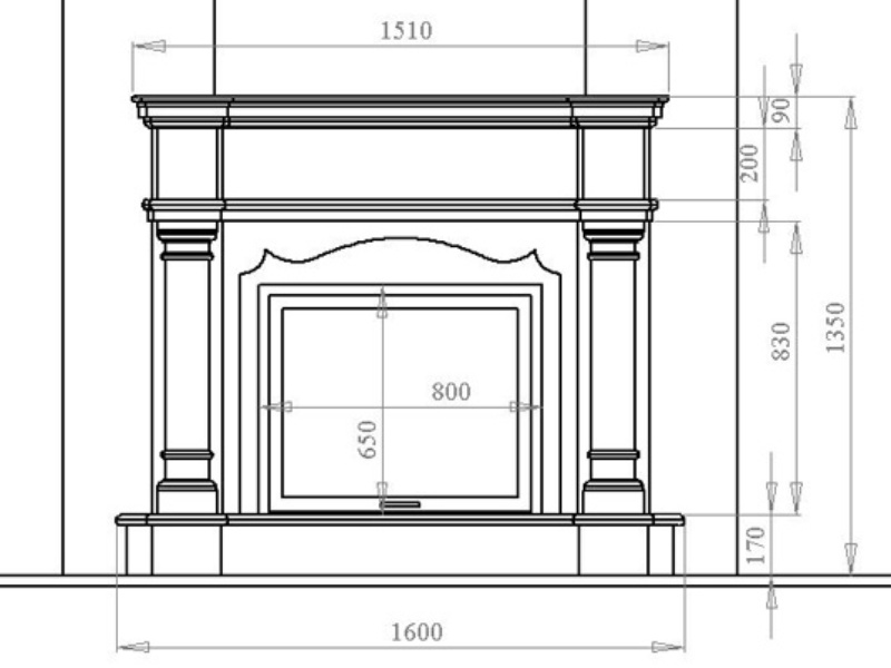 SCHEME FALSE FIREPLACE.