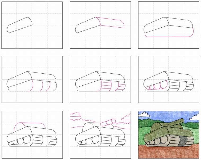 Cum de a desena un rezervor simplu pentru copii