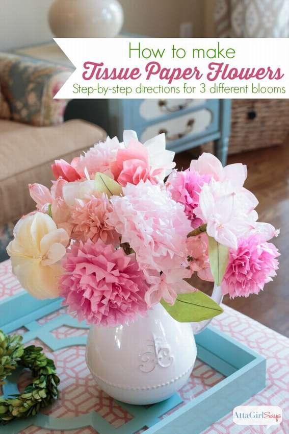 Μπουκέτο λουλουδιών από χαρτοπετσέτες το κάνουν μόνοι σας