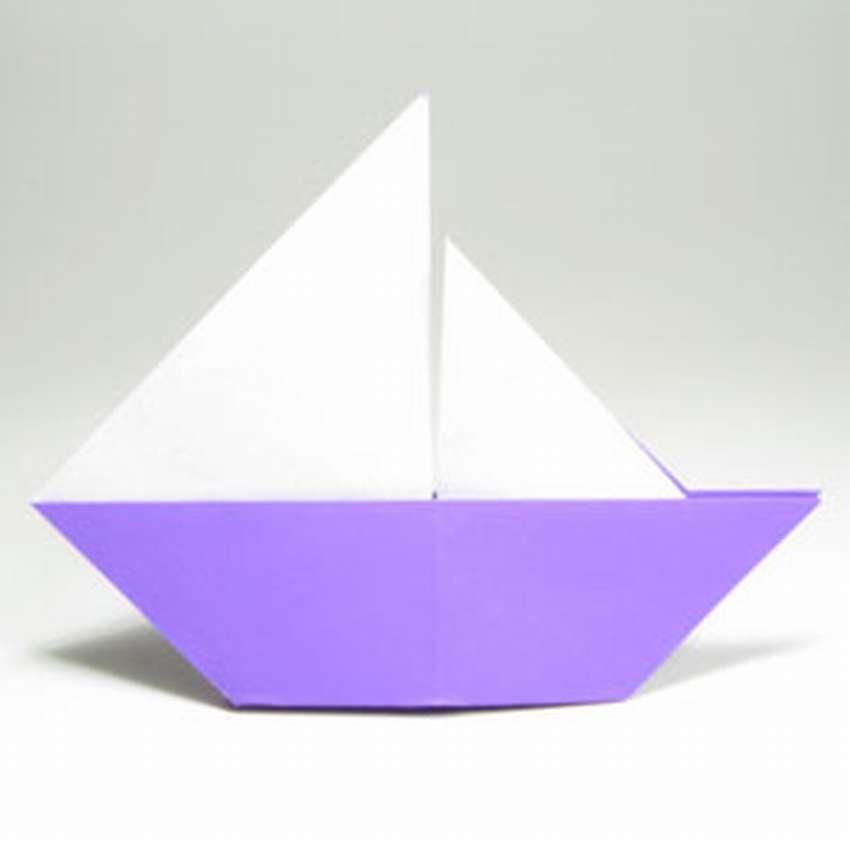Hoe een zeilboot origami te maken