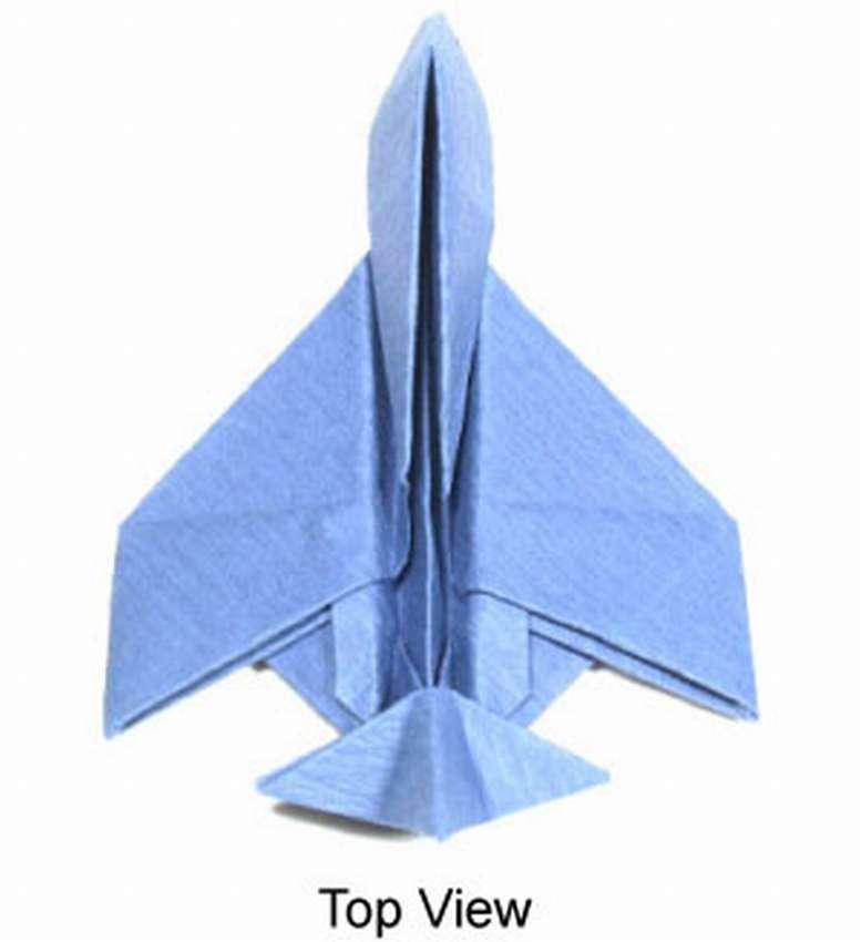 самолет истребитель оригами