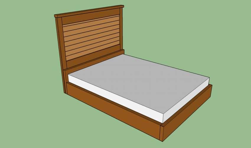 как сделать деревянную кровать чертеж