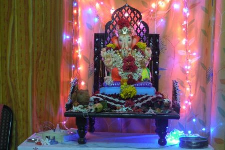 5 Simple Ganpati Decoration Ideas For Your Home     Nurturing Little     Image