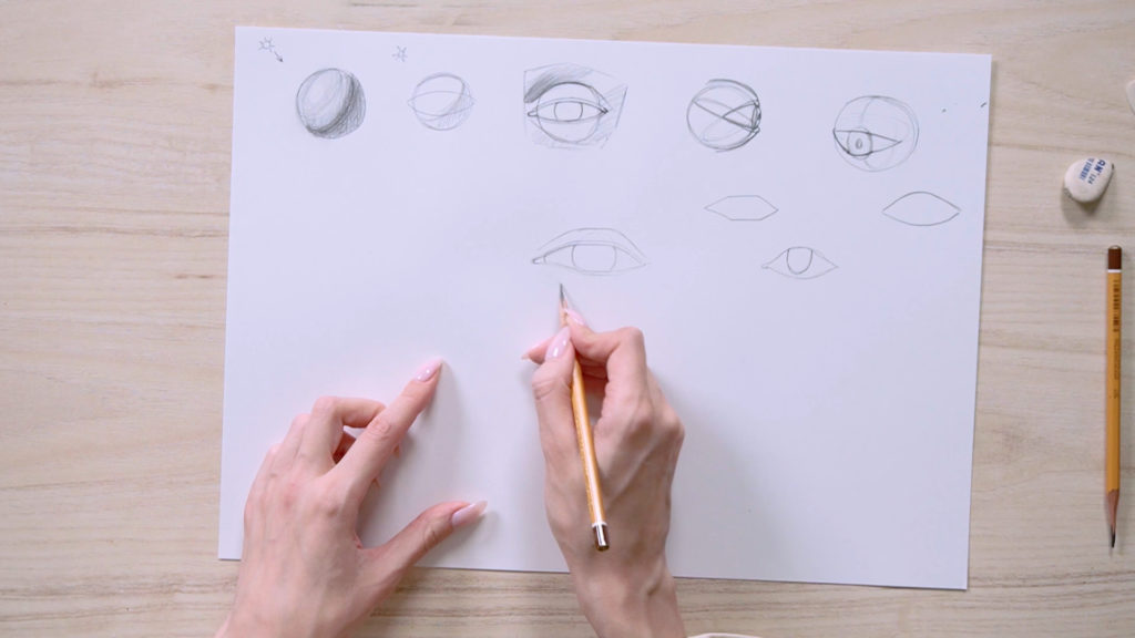 How to draw eyes with a pencil Phaood - Stage 6 - Photo