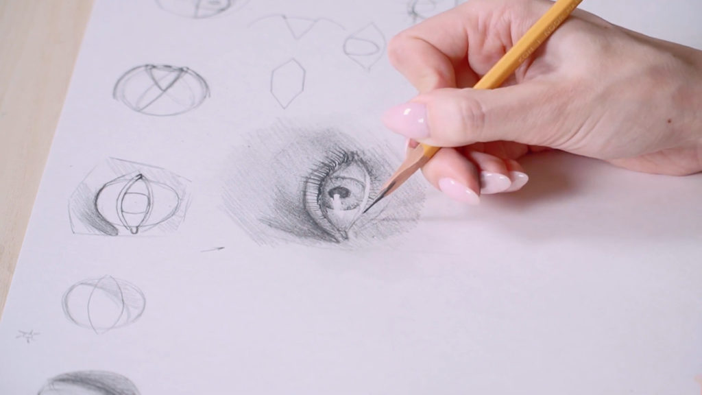 How to draw eyes with a pencil Phaood - Stage 17 - Photo