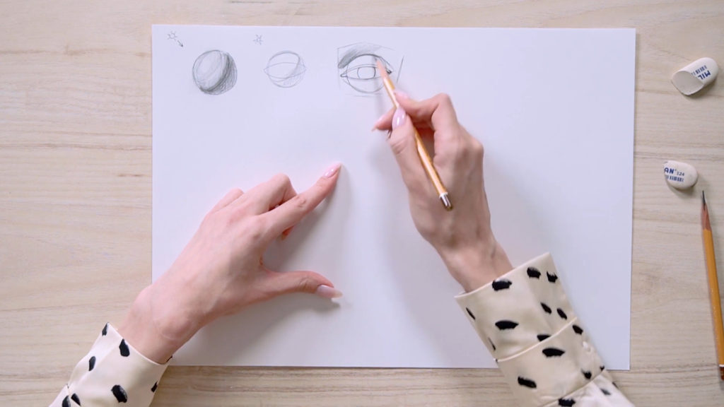 چگونه برای جلب چشم یک مداد phased - مرحله 1 - عکس