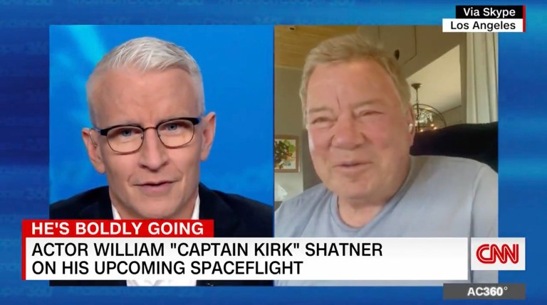 William Shatner, Anderson Cooper joke about 'inseminating' space program
