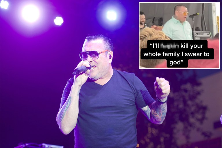 Smash Mouth singer Steve Harwell threatens crowd in wild video