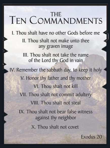 10 commandments bible # 22