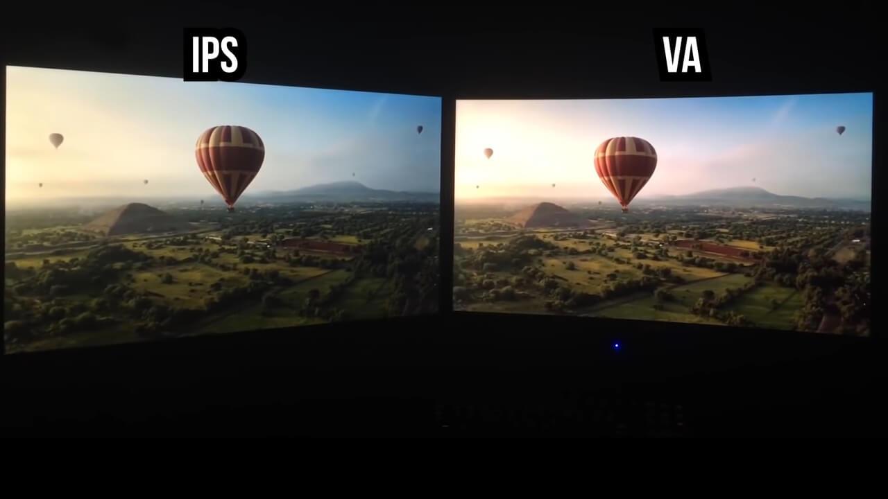 شاشات مع ماتريكس VA لديها تباين عال