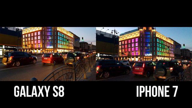 Galaxy S8 ve iPhone 7'de çekilen resimlerin karşılaştırılması