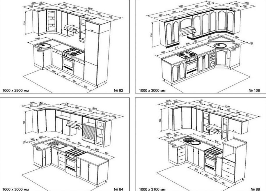 Cozinha desenho de compensado