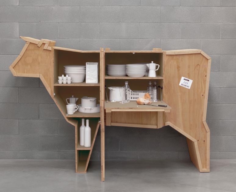 خشب الرقائقي تصميم المطبخ