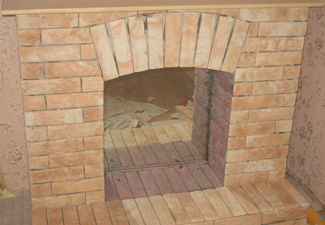 Gypsum картоны жалған камин дайын