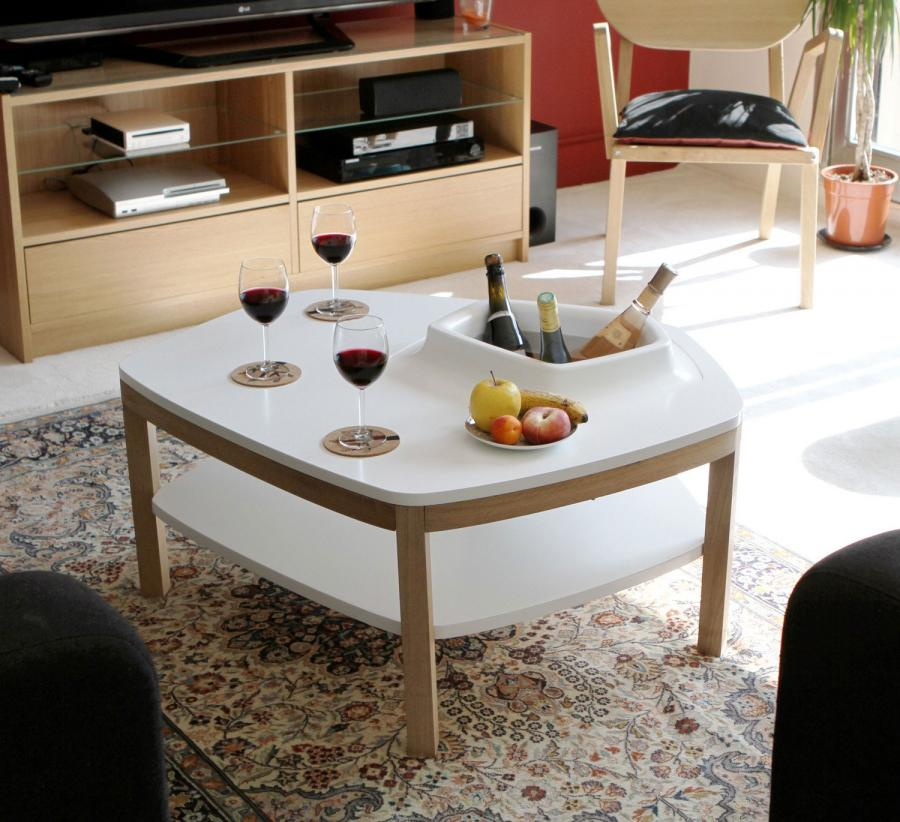 Coffee Table With Built In Ice Bucket