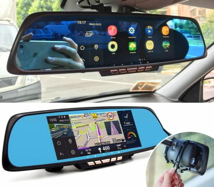 Smart Rear View Mirror With Integrated Dash Cam  Touchscreen and GPS     If you have a car without a rear view backup camera  without a dash cam   without a touchscreen  or without GPS navigation  you might want to  consider one of